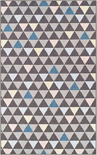 Pastel Aztec Collection Area Rug