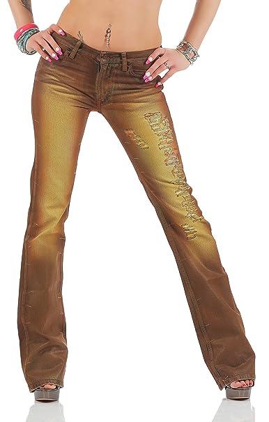 Fornarina Mujer Jeans Marrón Brown Attitude Denim Pant ...