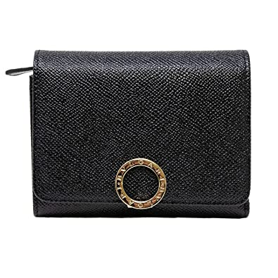 new style 9f1a6 31d86 Amazon | [ブルガリ] BVLGARI 正規品 3つ折り財布 ミニ財布 ミニ ...