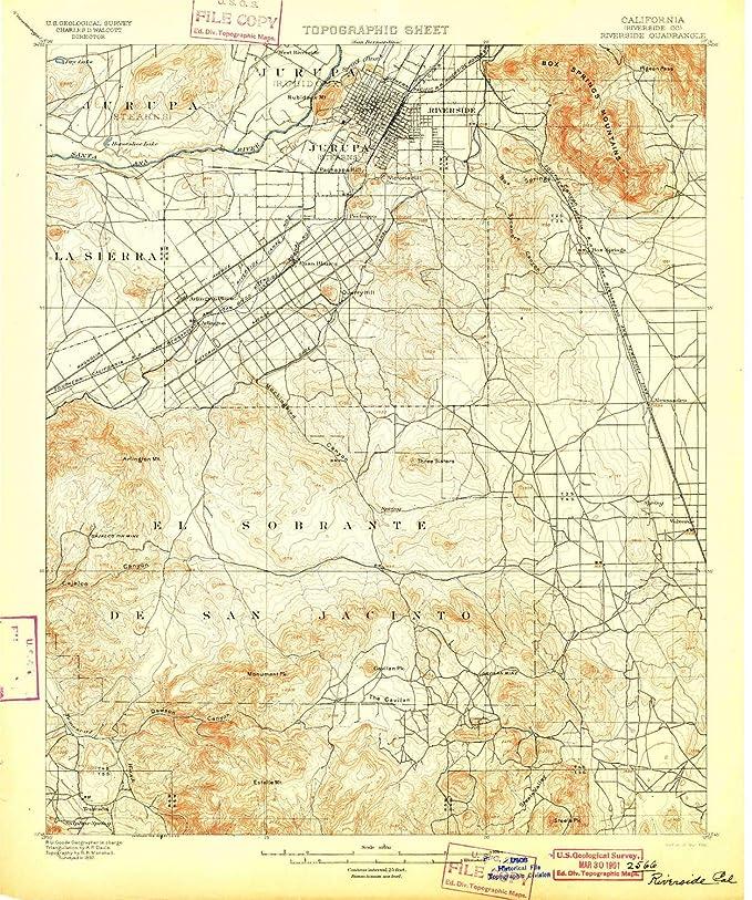 Amazon.com : YellowMaps Riverside CA topo map, 1:62500 Scale ...