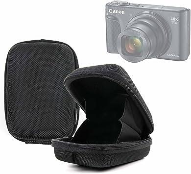 DURAGADGET Funda/Estuche rígida con Cierre de Cremallera para Cámara Canon PowerShot SX740 HS Color Negro.: Amazon.es: Electrónica