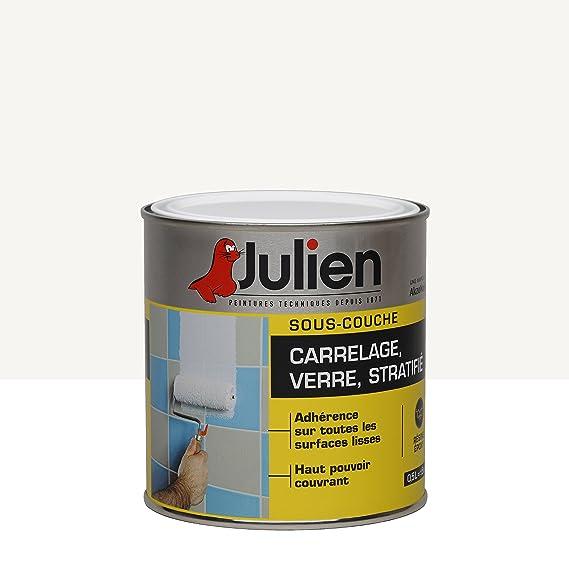 Agreable Sous Couche JULIEN Pour Verre, Stratifié, Carrelage Mural   Blanc  Légèrement Satiné 0,5L: Amazon.fr: Bricolage Bonnes Idees