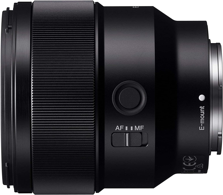 Black Sony SEL85F18 E Mount Full Frame 85 mm F1.8 Prime Lens