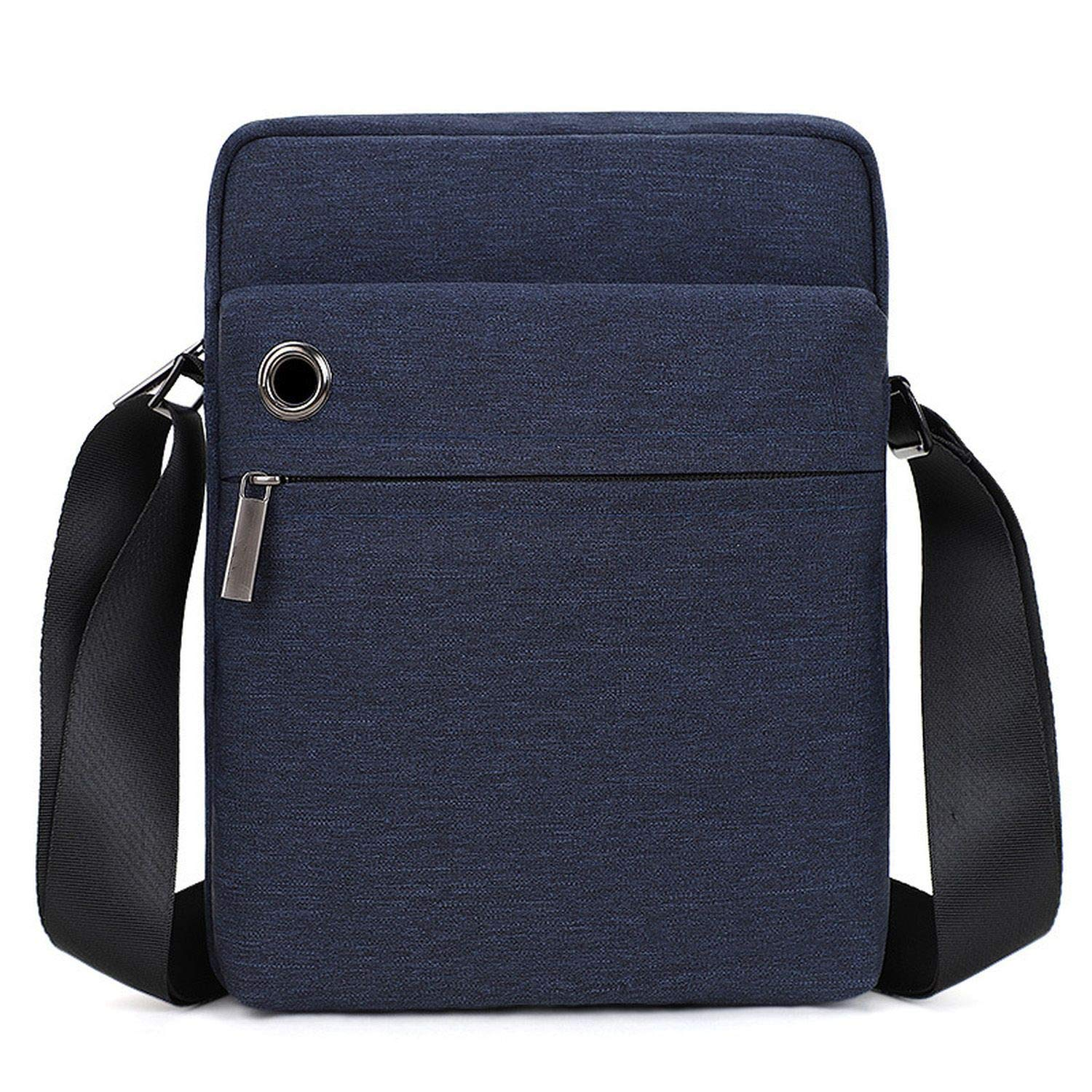 Men Bag Shockproof Mens Crossbody Bag Light Casual Canvas Men Shoulder Bag Male Waterproof Messenger Bags,T511-Dark Gray