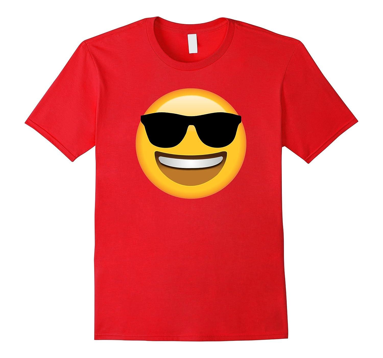 Funny Emoji Sunglasses Happy Face Smile Cool Shades T-Shirt-Vaci