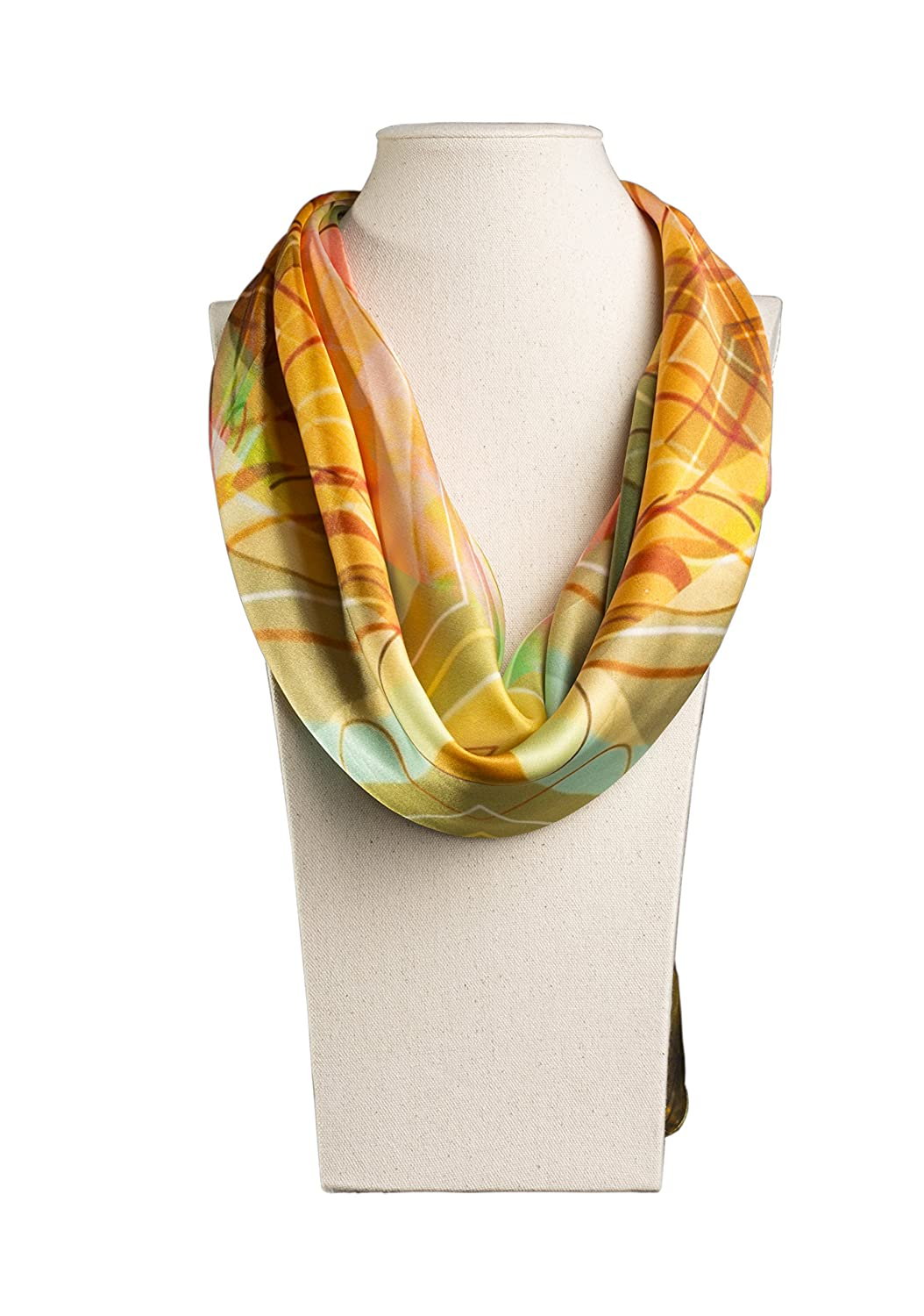100% Pure Silk Women's Square Scarf