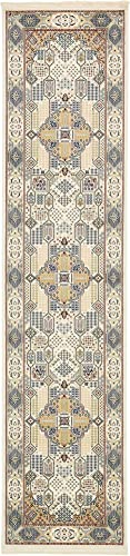 Unique Loom Narenj Collection Classic Traditional Medallion Textured Area Rug_NND004