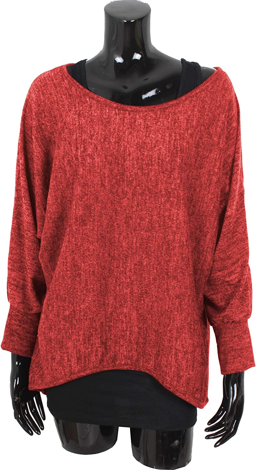 Oversized Jumper Made in Italy Women Emma /& Giovanni 2 Pieces Long Sleeve -