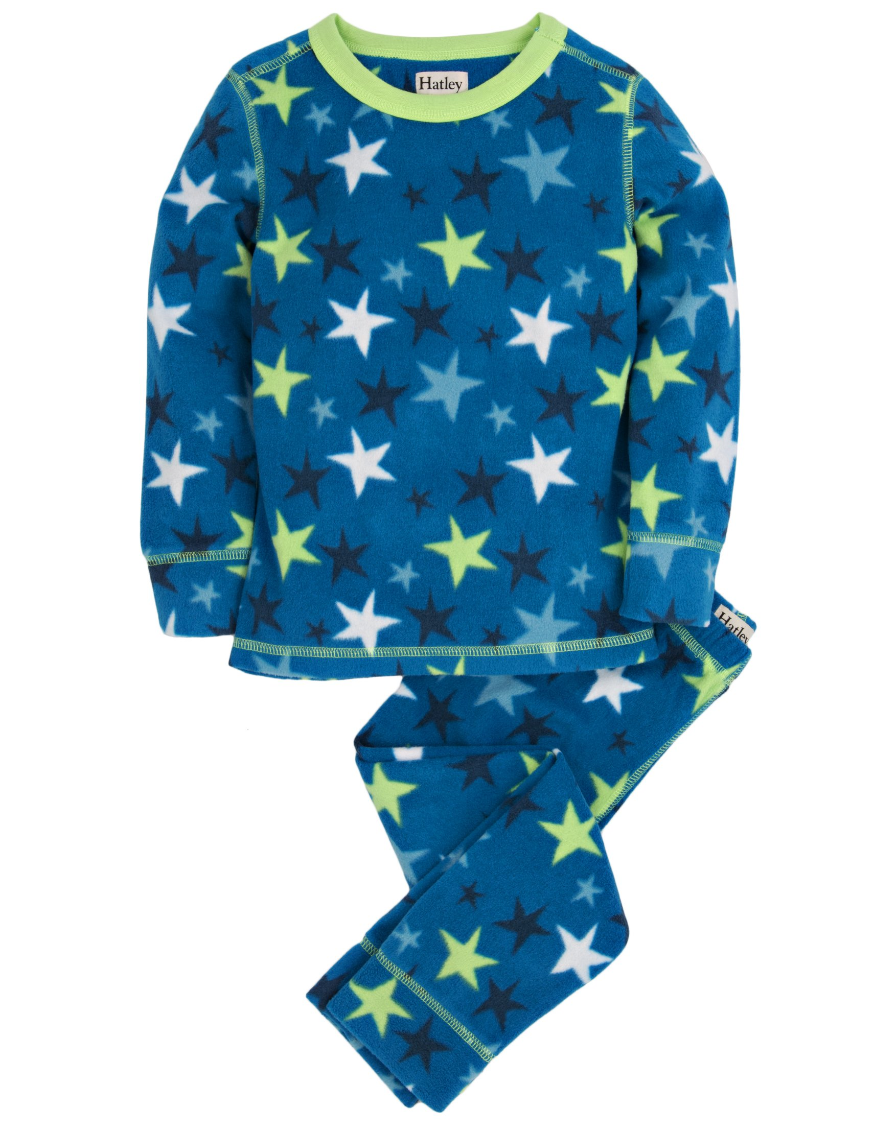 Hatley Little Boys' Thermal Ski Underwear Stars, Blue, 4 by Hatley