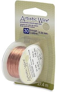 Amazon.com: Artistic Wire 34-Gauge Bare Copper Wire, 30-Yards