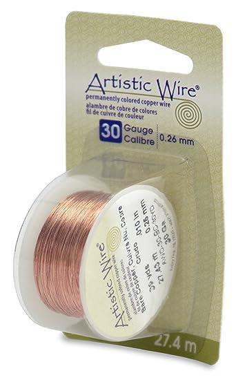 Amazon.com: Artistic Wire 30-Gauge Bare Copper Wire, 30-Yards