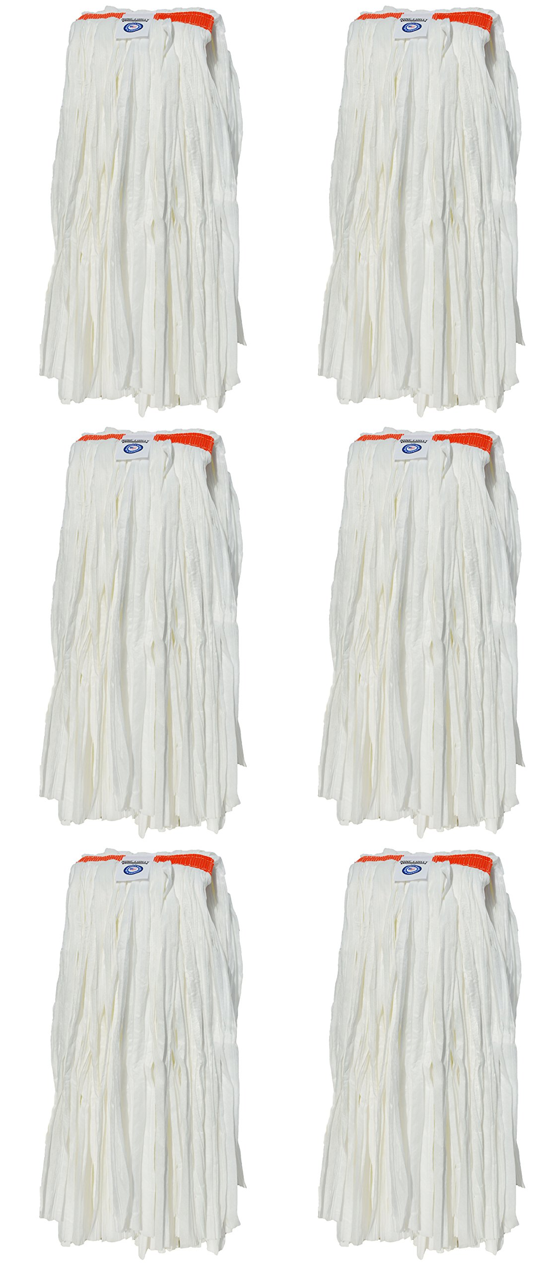 Nine Forty Commercial USA Synthetic Cut End Wet Mop Head Refill | Replacement (6 Pack, Large)
