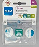MAM Style I Love Mummy and Daddy Soother for 0 months + (2 pack Blue)