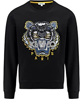 aa64abce6 Kenzo Women's White Embroidered Icon Tiger Sweatshirt Jumper ...