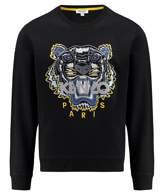 Kenzo Paris Herren Sweatshirt Tiger Schwarz, M