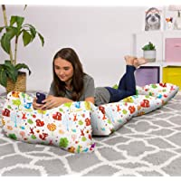 Kids Floor Pillow Cover - Premium Cushion and Lounger Covers for Pillows (King Pillows NOT included) - Gifts for Teenage Girls, King Pillow Size, Canvas - Animals Forest Critters