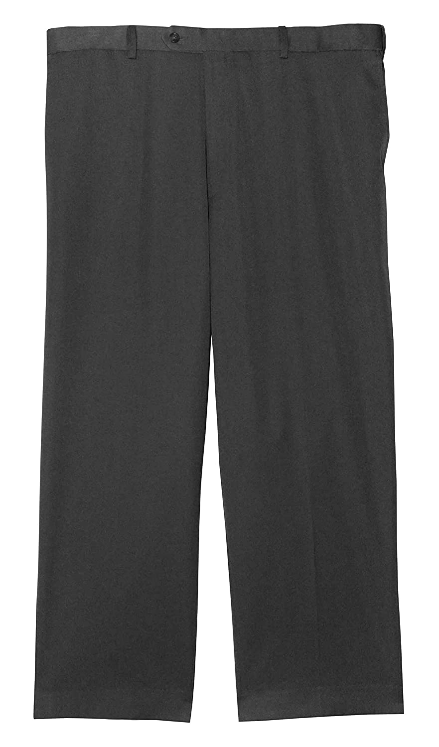 Jonathan Quale Big and Tall Flat Front Dress Pant Grey