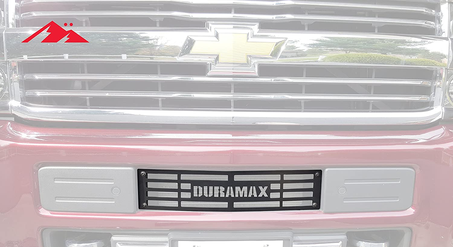 Mountains2Metal 2015-2019 Chevy Silverado 2500 3500 HD Duramax Stainless Steel Powder Coated Black Bumper Grille Insert