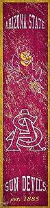 NCAA Arizona State Sun Devils Unisex Arizona State Heritage Banner Vertical 6x24, Team, 6 x 24