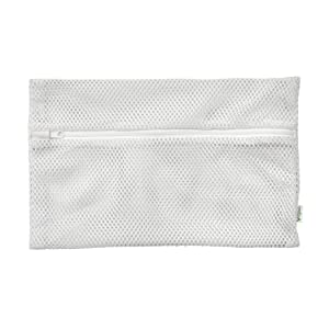 green sprouts Space-Saving Dishwasher Bag, White | Keeps Small Parts Secure During wash Cycle | Zippered Closure Keeps Items Inside, Perfectly Sized, Can Hold delicates in Washing Machine