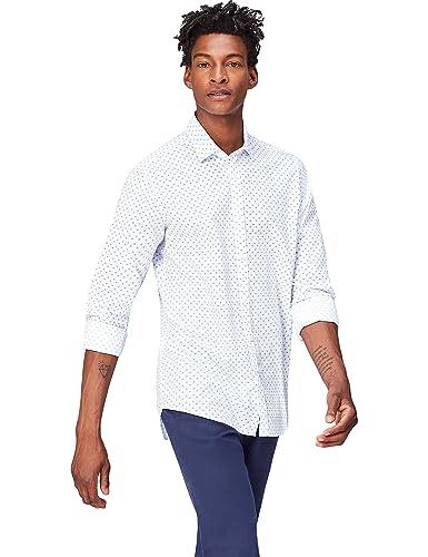 FIND Men's Spot Print Slim Fit Shirt