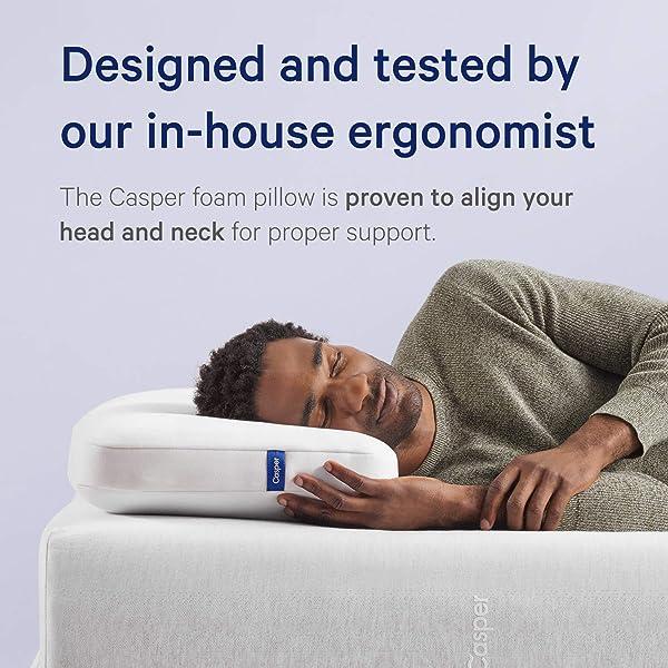 Casper Sleep Foam Pillow for Sleeping, Standard