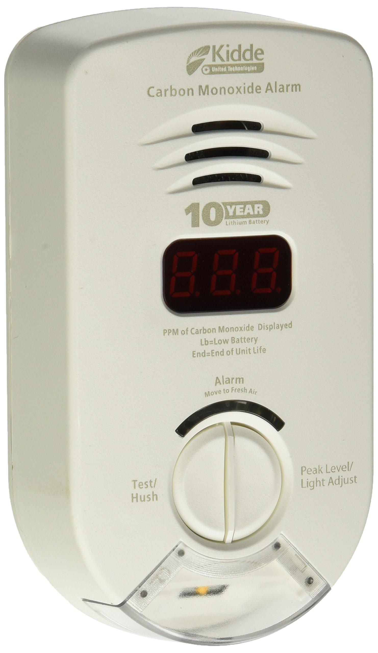 KIDDE 21026365 Plug In Carbon Monoxide Alarm with Escape Light