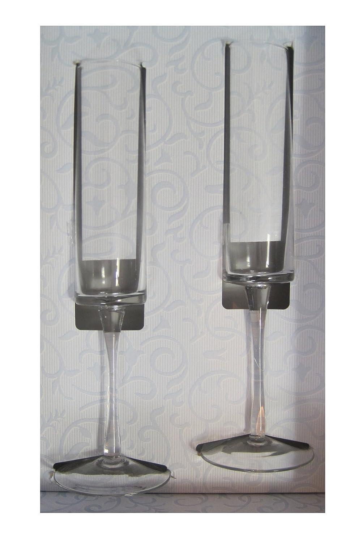 Set of 2 10-4083 Ivy Lane Design Cylinder Toasting Flutes