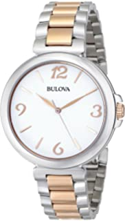 Bulova Womens 98L195 Analog Display Japanese Quartz Two Tone Watch
