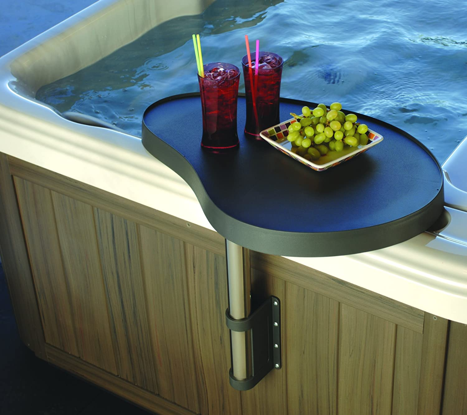 Essentials Hot Tub And Spa Caddy Swivel Spa Tray for Food and