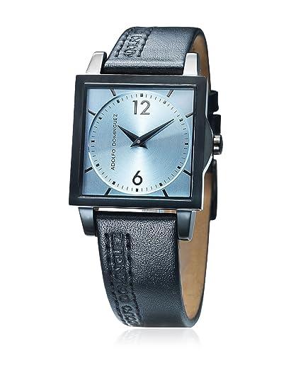 4bc6675f5bf8 Adolfo Dominguez Watches 69192 - Reloj de Señora Cuarzo Correa de Piel dial  Azul  Amazon.es  Relojes