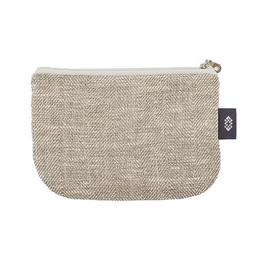 492482cd5fa2e Kleine weiße Geldbörse Kosmetiktasche - Doppellagige 100% Leinen -  Geldbeutel - iPhone Hülle - Kleine