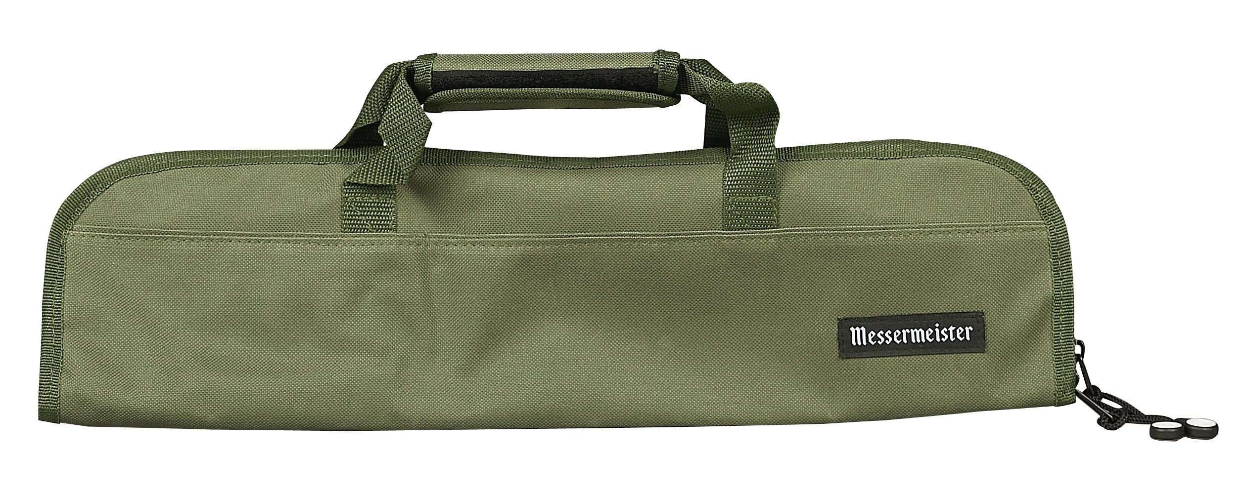 Messermeister 5-Pocket Padded Knife Roll, Olive