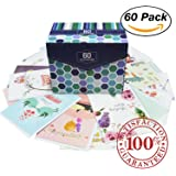 60 Pack Assorted All Occasion Greeting Cards | Includes Happy Birthday, Get Well, Thank You Note Cards Assortment | Bulk Box Set Variety Pack with Envelopes Included | 20 Unique Designs | 5 x 7 Inches