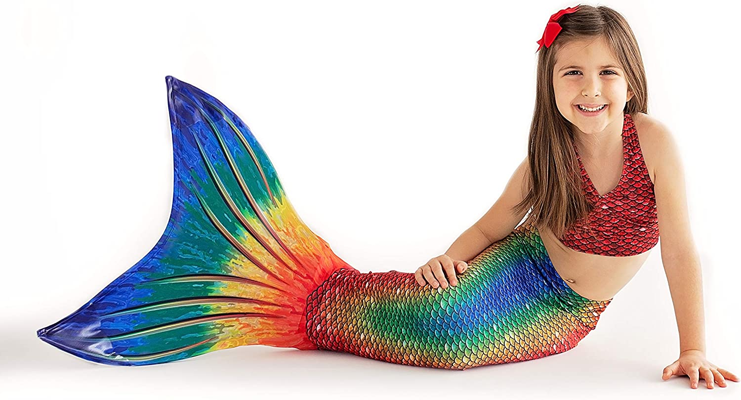 No Monofin with MER-Shield Tip Protection Mermaid Tail for Swimming Child Sizes