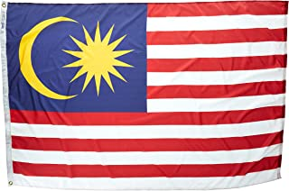 product image for Annin Flagmakers Model 195286 Malaysia Flag Nylon SolarGuard NYL-Glo, 4x6 ft, 100% Made in USA to Official United Nations Design Specifications