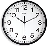 Orium 2116790011 - Reloj silencioso, 30 cm diámetro, color negro