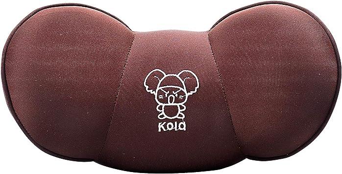 Keenso Memory Foam Car Neck Pillow Neck Rest Travel Headrest Support Multi-functional Neck Headrest Cushion Dark Beige Car Neck Pillow
