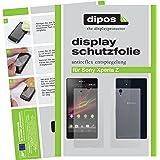 4x Dipos Antireflex Displayschutzfolie für Sony Xperia Z - je 2 Folien für die das Display und die Rückseite