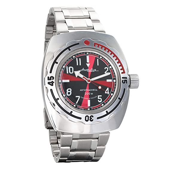 Vostok Amphibian - Reloj de pulsera automático para hombre con correa de buceo militar y anfibia, reloj de pulsera #090650: Amazon.es: Relojes