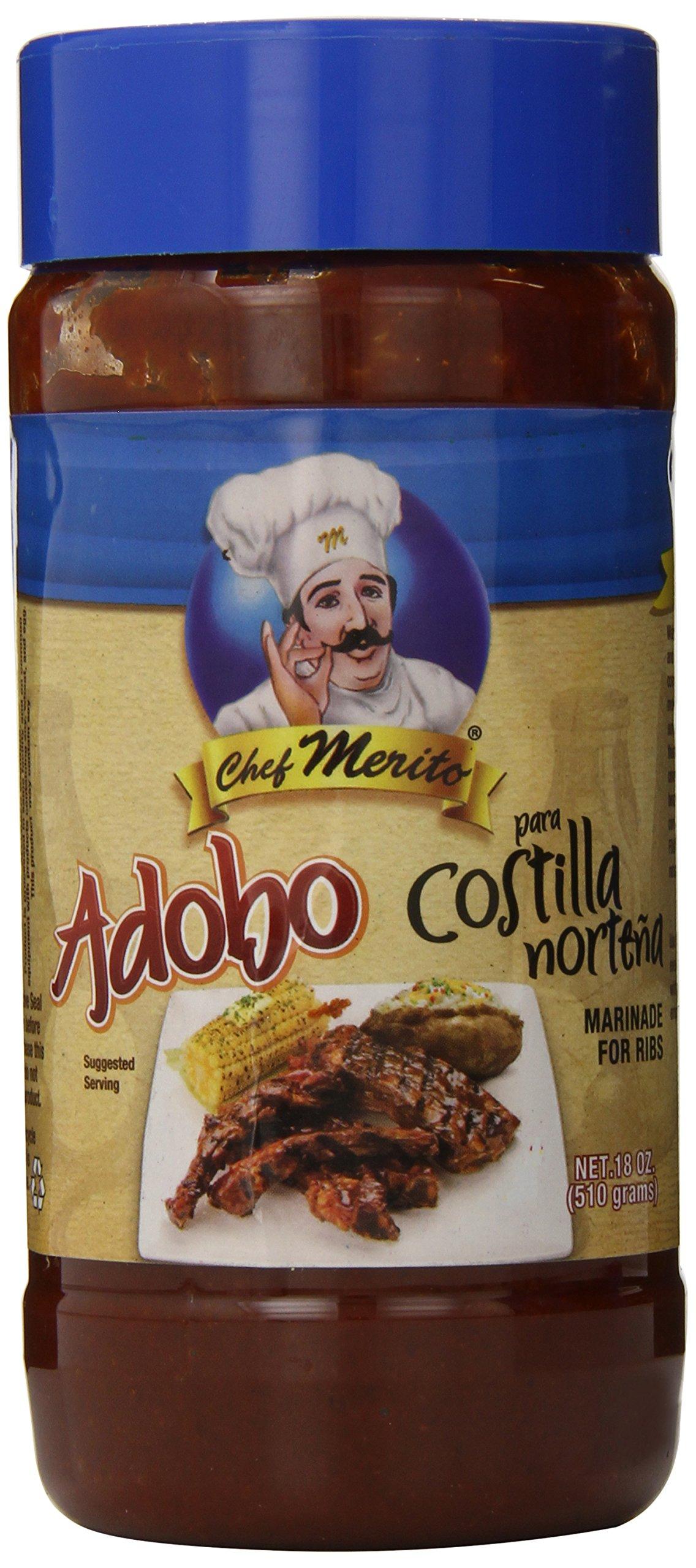 Chef Merito Adobo Costillas Nortenas, 18.0 Ounce