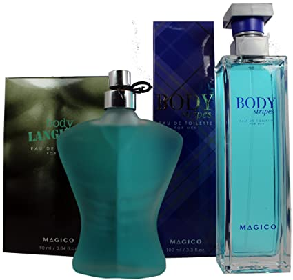Perfume Frances 100ml Body Stripes by Magico para Hombre 100ml + Perfume Frances Body Language 90