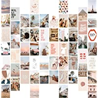Wall Collage Kit Aesthetic Pictures, 60 Set 4x6 inch, Beige Photo Collage Kit for Bedroom Decor, VSCO Room Decor for…