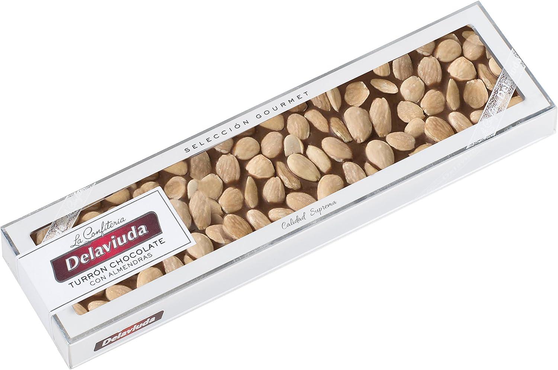Delaviuda Turrón de Chocolate con Leche con Almendras - 250 gr ...