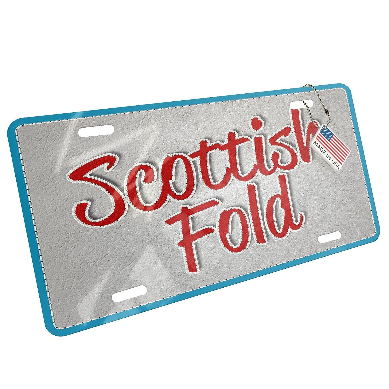 SCOTTISH FOLD CAT CHROME License Plate Frame Tag Holder