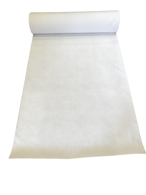 LaVelaHOME Tappeto Nuziale Bianco passatoia Matrimonio Chiesa [ con e Senza Pellicola] (con Pellicola, m 1 x 5)