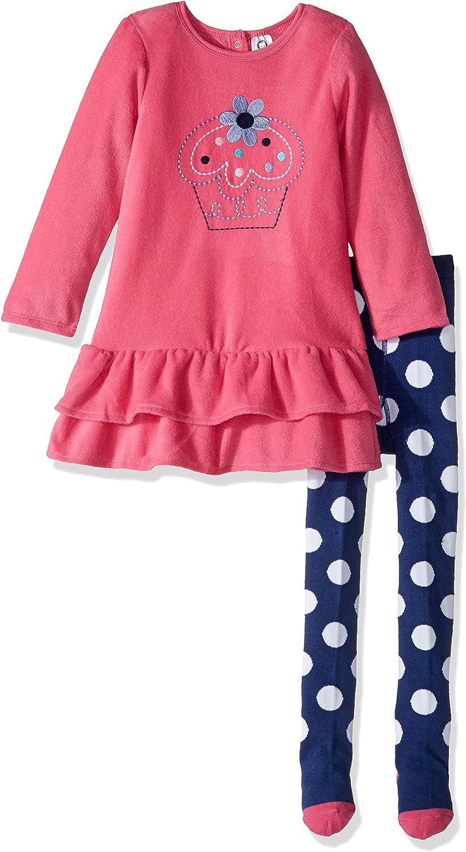 Gerber Baby Girls' Fleece Dress with Tights