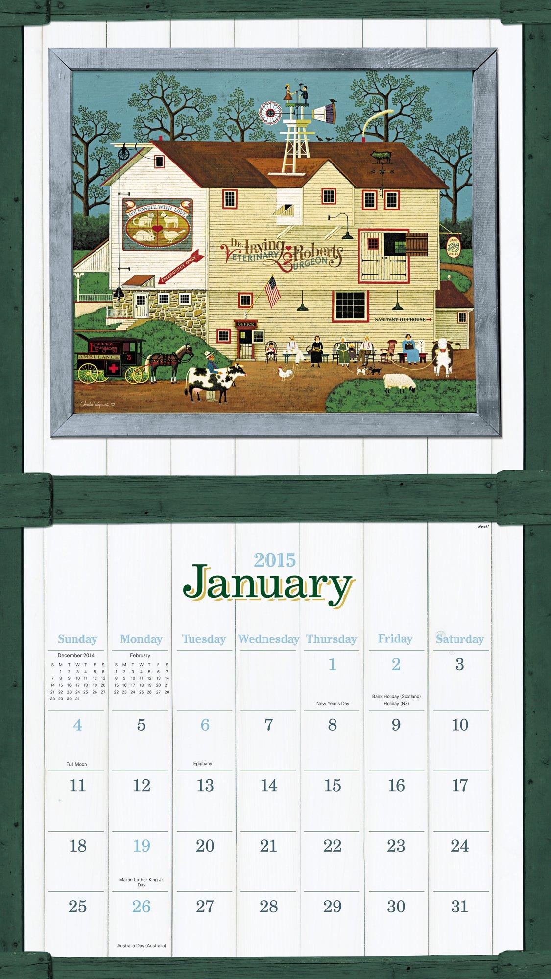 Charles Wysocki - Americana Wall Calendar (2015): Charles Wysocki ...