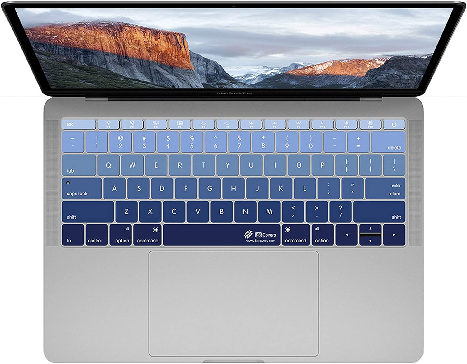 KB Covers DEEPBLUES-M12M13 Compatible with MacBook 12 Inch Retina//MacBook Pro 13 Inch Late 2016+