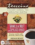 Teeccino Vanilla Nut 75% Organic Herbal Coffee Medium Roast Caffeine Free